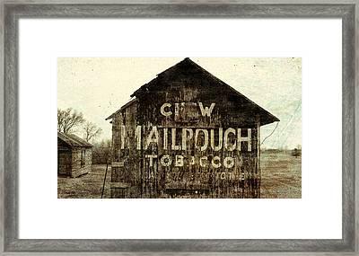 Gunge Mail Pouch Tobacco Barn Framed Print