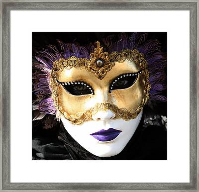 Gunilla Maria's Purple Feathers Framed Print by Donna Corless