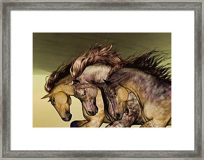 Framed Print featuring the painting Gunmetal by Valerie Anne Kelly