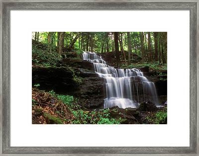 Gunn Brook Falls Sunderland Framed Print