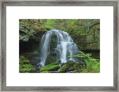 Gunn Brook Slip Dog Falls Mount Toby Framed Print by John Burk
