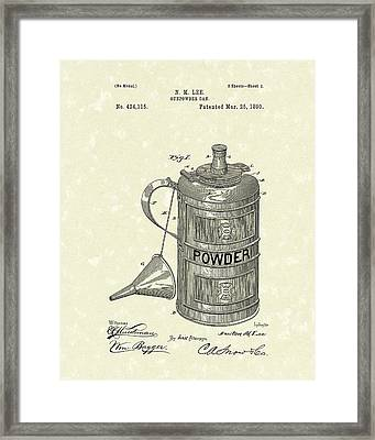 Gunpowder Can 1890 Patent Art  Framed Print