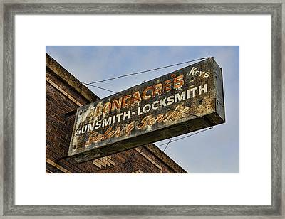 Guns And Locks Framed Print
