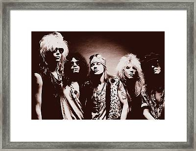 Guns N' Roses - Band Portrait 02 Framed Print