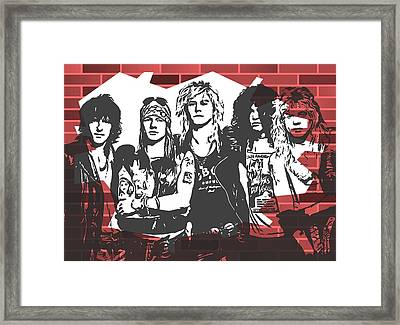 Guns N Roses Graffiti Tribute Framed Print by Dan Sproul