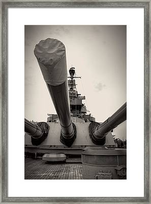 Guns Of North Carolina In Black And White Framed Print