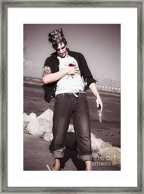 Gunshot Wound Framed Print by Jorgo Photography - Wall Art Gallery