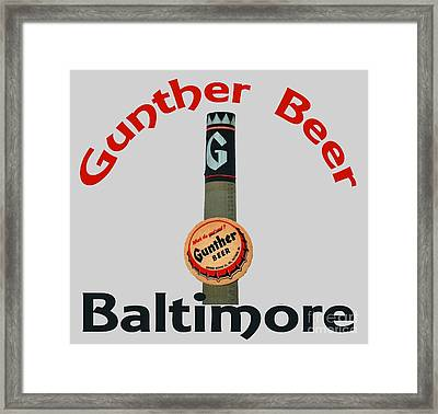Gunther Beer Baltimore Framed Print by Jost Houk