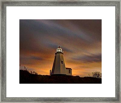 Gurnet Light 001 Framed Print