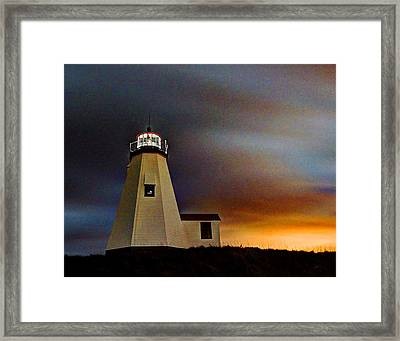 Gurnet Light 002 Framed Print