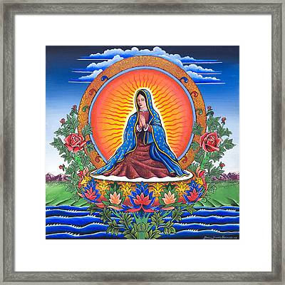 Guru Guadalupe Framed Print