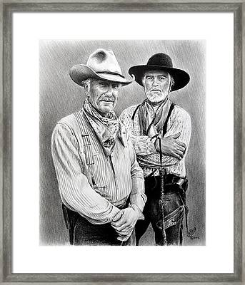 Gus And Woodrow Framed Print