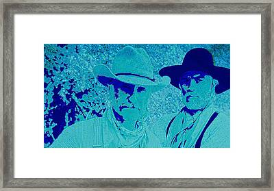 Gus And Woodrow Framed Print by Brian Broadway