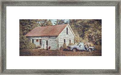 Gus Klenke Garage Framed Print by Scott Norris