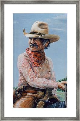 Gus Framed Print by Lee Bowerman