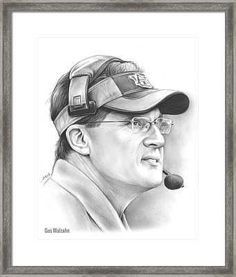 Gus Malzahn Framed Print by Greg Joens