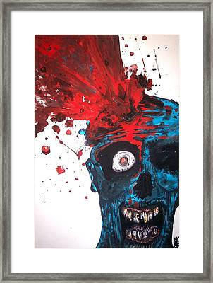 Gush Framed Print by Sam Hane