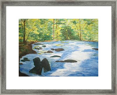 Framed Print featuring the painting Gushing At The Light by Trilby Cole