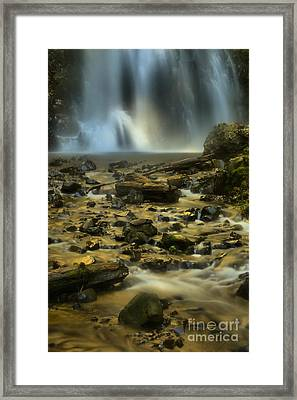 Gushing Into The Creek Framed Print
