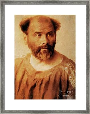 Gustav Klimt, Artist By Mary Bassett Framed Print