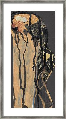 Framed Print featuring the painting Gustav Klimt's Tears by Maya Manolova