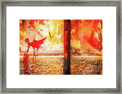 Framed Print featuring the photograph Gutter And Decayed Wall by Silvia Ganora