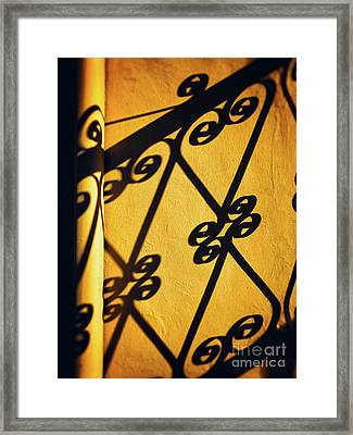 Framed Print featuring the photograph Gutter And Ornate Shadows by Silvia Ganora