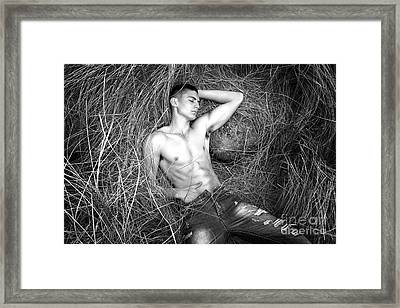 guy Framed Print by Mark Ashkenazi