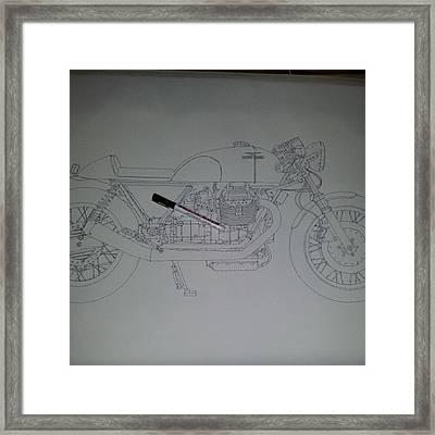 Guzzi En Proceso #motorcycle #motogp Framed Print