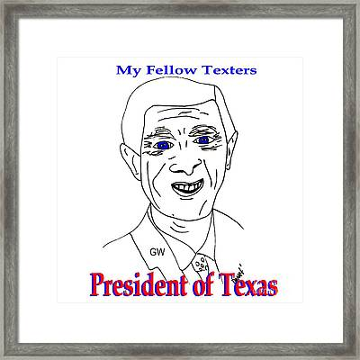 Gw On Texting Framed Print by James and Donna Daugherty