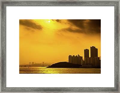 Gwangandaegyo Bridge, Korea Framed Print
