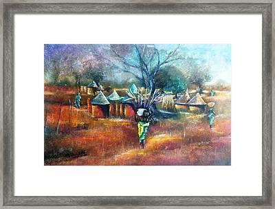 Gwari Village In Abuja Nigeria Framed Print