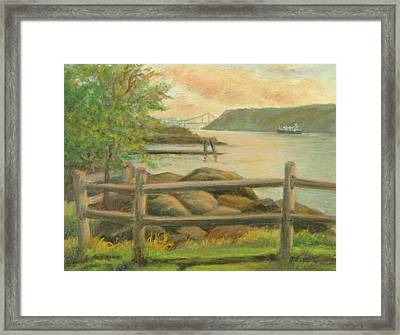 Gwb From Hastings Framed Print by Phyllis Tarlow