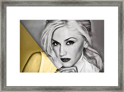 Gwen Stefani Collection Framed Print by Marvin Blaine