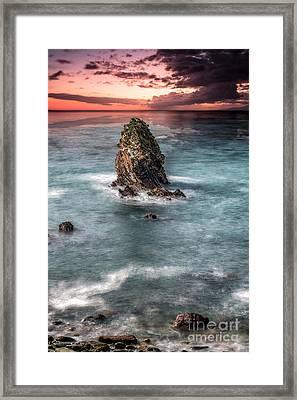 Gwenfaens Sunset Framed Print by Adrian Evans