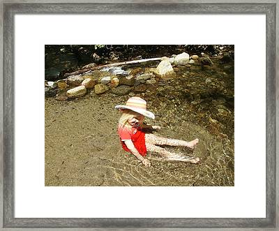 Framed Print featuring the photograph Gwenyn At Galena Creek On Mt Rose by Dan Whittemore