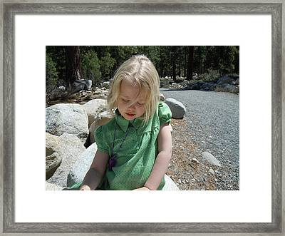 Framed Print featuring the photograph Gwenyn by Dan Whittemore