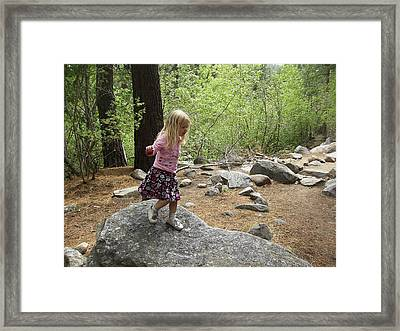 Framed Print featuring the photograph Gwenyn On Mt. Rose by Dan Whittemore