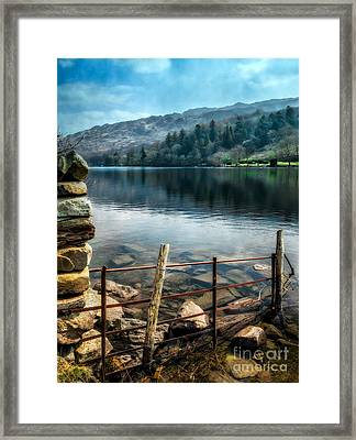 Framed Print featuring the photograph Gwynant Lake by Adrian Evans