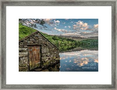 Gwynant Lake Sunset Framed Print