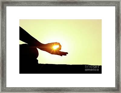 Gyan Mudra Framed Print by Tim Gainey