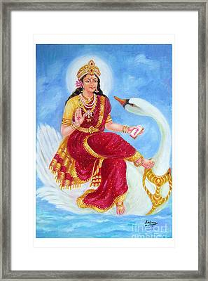 Gyatri Devi Framed Print by Kalpana Talpade Ranadive