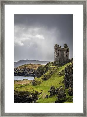 Gylen Castle On Kerrera In Scotland Framed Print