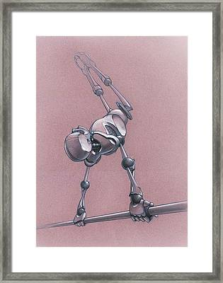 Gym Bot - High Bar Framed Print by Nicholas Bockelman