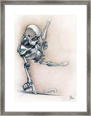 Gym-bot Pommels Framed Print