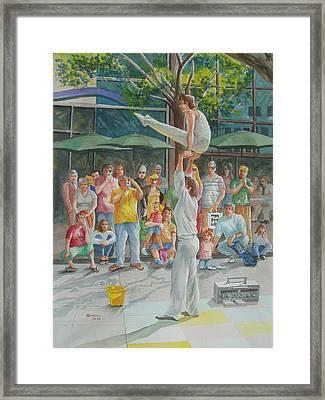 Gymnast Framed Print by Charles Hetenyi