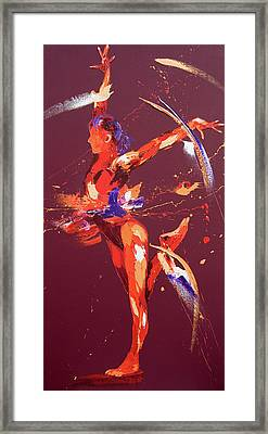 Gymnast Eight Framed Print by Penny Warden