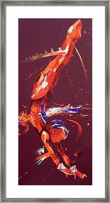 Gymnast Five Framed Print by Penny Warden