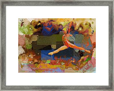 Gymnast Girl Framed Print