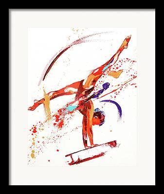 Gymnastic Framed Prints
